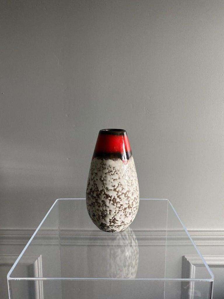 Midcentury Vintage Fat Lava Vase by Scheurich Keramik For Sale 1