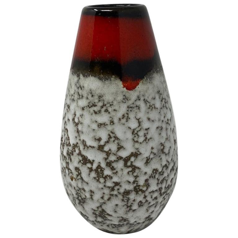 Midcentury Vintage Fat Lava Vase by Scheurich Keramik For Sale