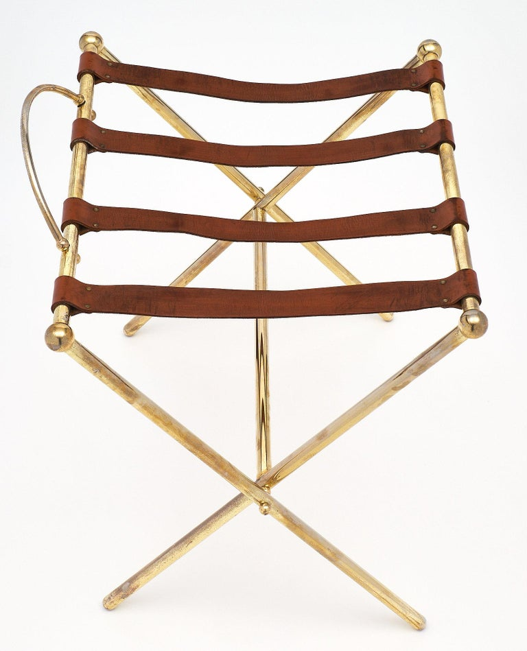 Mid-20th Century Midcentury Vintage Luggage Stand For Sale