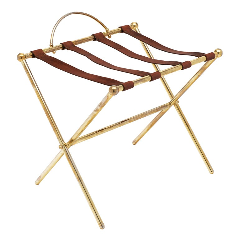 Midcentury Vintage Luggage Stand For Sale