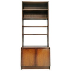Midcentury Vintage Rosewood A. H Mcintosh Wall Shelving Unit