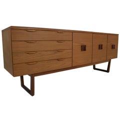 Midcentury Vintage Teak Sideboard, Cabinet, 1960, England