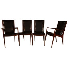 Midcentury Vladimir Kagan Sculpted Sling Dining Chairs Model VK 101 and VK 101A