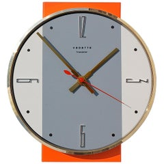 Midcentury Wall Clock by Vedette, France, 1960s