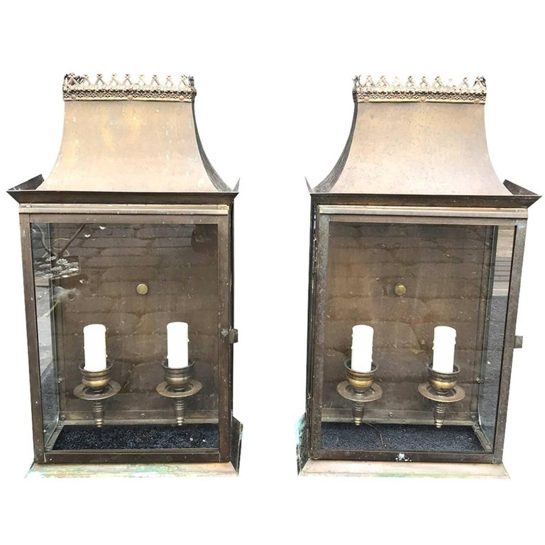 Midcentury Wall Lanterns in the 19th Century Style