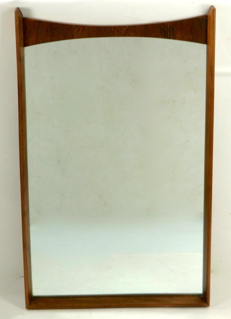 Mid Century Wall Mirror In Good Condition For Sale In New York, NY