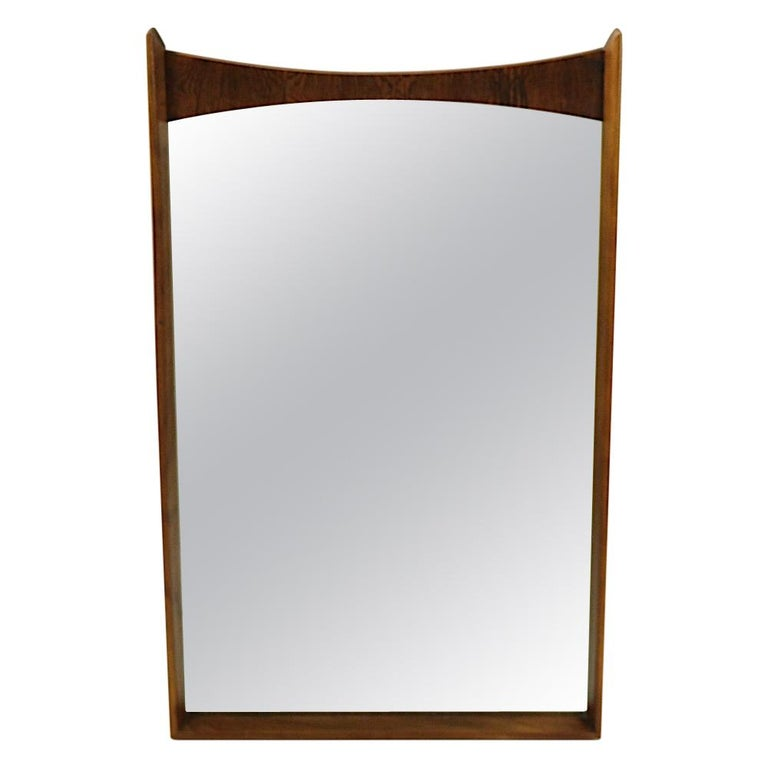 Mid Century Wall Mirror For Sale