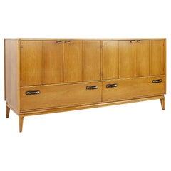 Mid Century Walnut 6 Drawer Lowboy Dresser