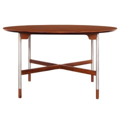 Mid-Century Walnut and Brushed Steel Table by Jack Cartwright