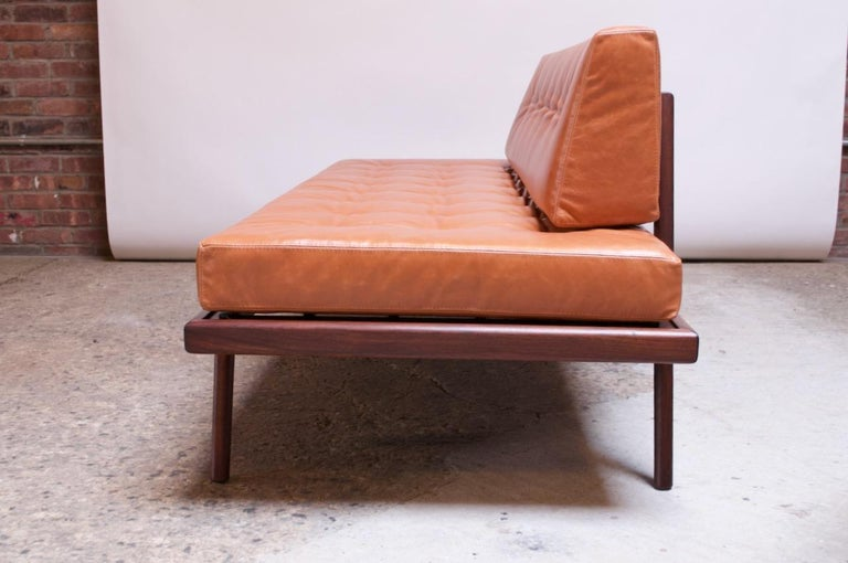 Midcentury Walnut and Leather Daybed / Settee by Mel Smilow 2