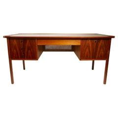 Mid Century Walnut and Rosewood Desk