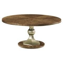 Mid Century Walnut and Steel Dining Table