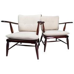Midcentury Walnut Armchairs Designed by Anna-Lülja Praun in Austria, 1950s