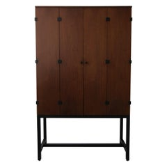 Midcentury Walnut Armoire Cabinet by Directional
