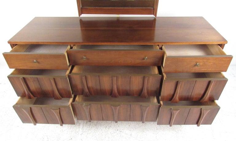 American Midcentury Walnut Bedroom Suite by Coleman of Virginia For Sale