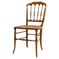 Mid-Century Walnut Chiavari Chair Based on a Design by Giuseppe Gaetano Descalzi