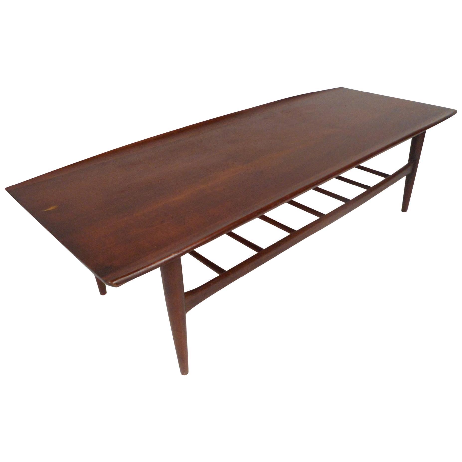 Mid-Century Walnut Coffee Table