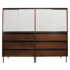 Midcentury Walnut Credenda / Cupboard Attrib D.R. Bates for Vista of California
