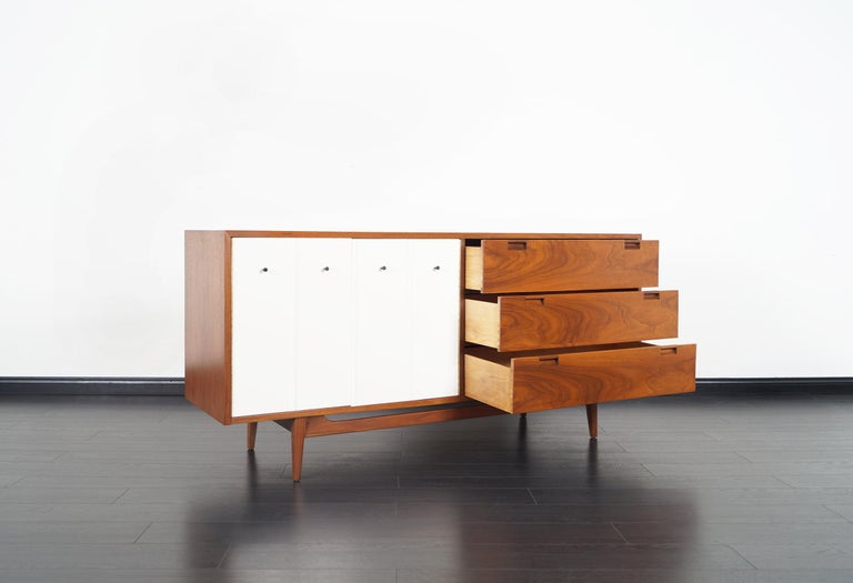 Mid-20th Century Midcentury Walnut Credenza by American of Martinsville For Sale