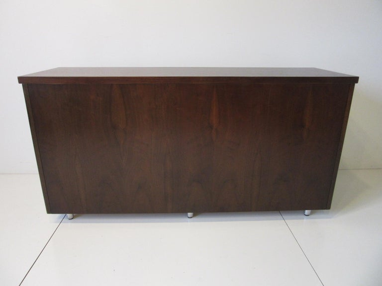Midcentury Walnut Credenza by The Alma Furniture Company For Sale 7
