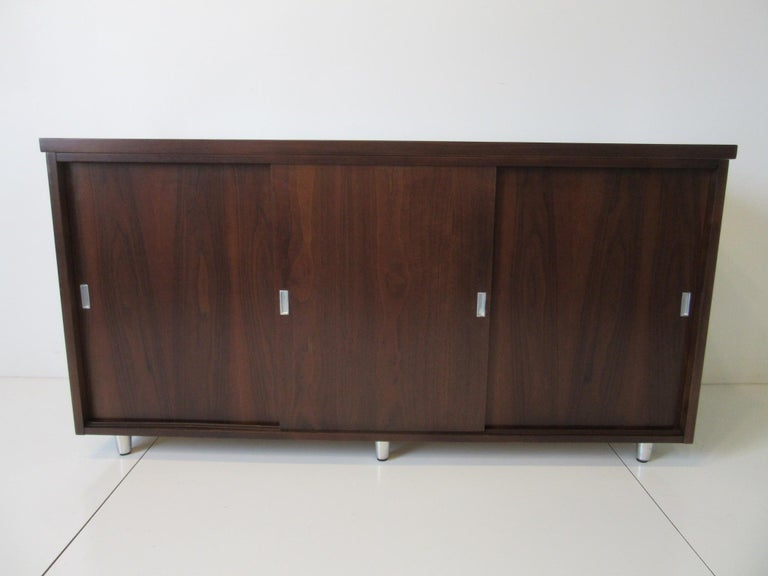 Midcentury Walnut Credenza by The Alma Furniture Company For Sale 8