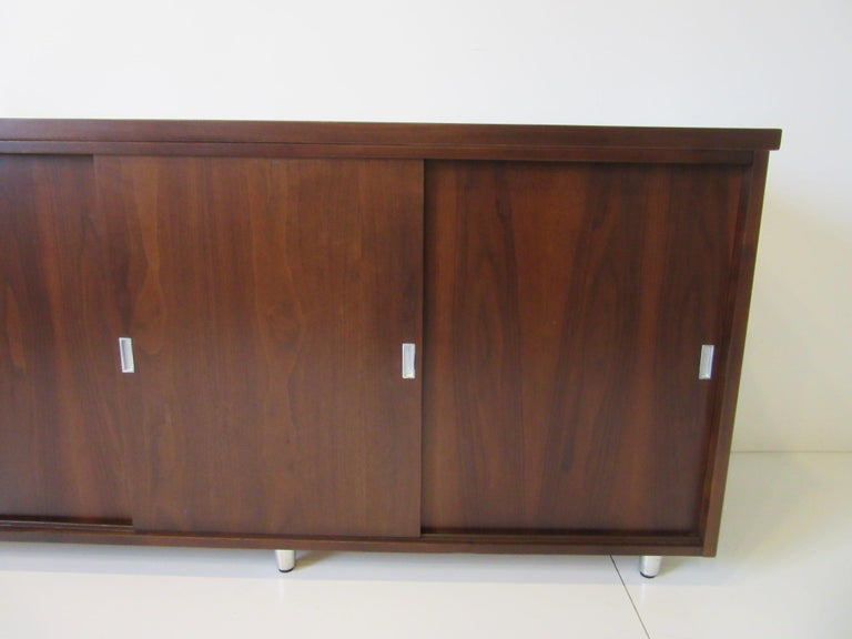 Mid-Century Modern Midcentury Walnut Credenza by The Alma Furniture Company For Sale