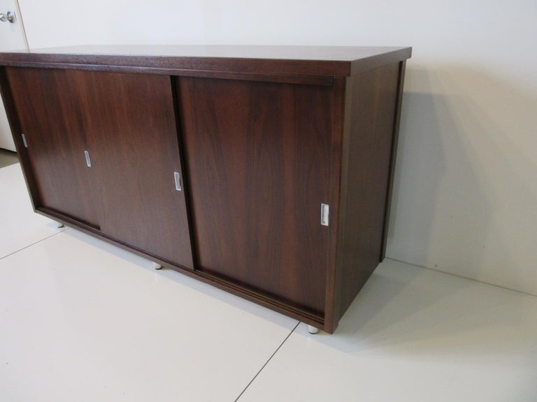 North American Midcentury Walnut Credenza by The Alma Furniture Company For Sale