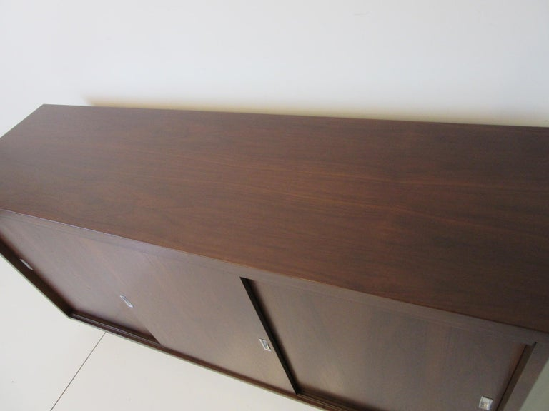 20th Century Midcentury Walnut Credenza by The Alma Furniture Company For Sale
