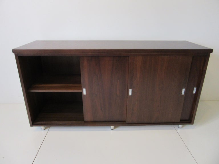 Midcentury Walnut Credenza by The Alma Furniture Company For Sale 1