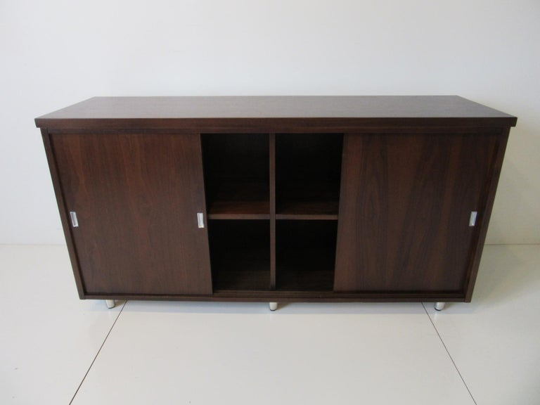 Midcentury Walnut Credenza by The Alma Furniture Company For Sale 2
