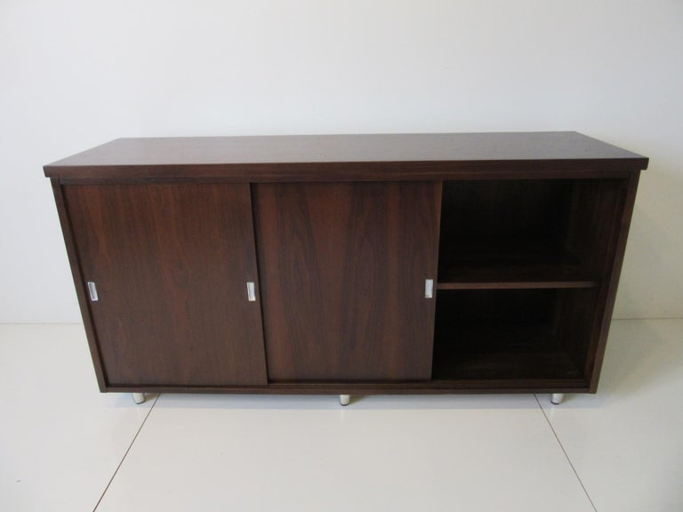 Midcentury Walnut Credenza by The Alma Furniture Company For Sale 3