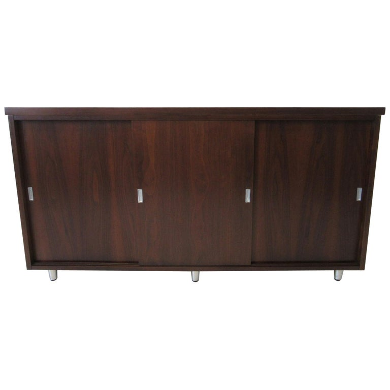 Midcentury Walnut Credenza by The Alma Furniture Company For Sale