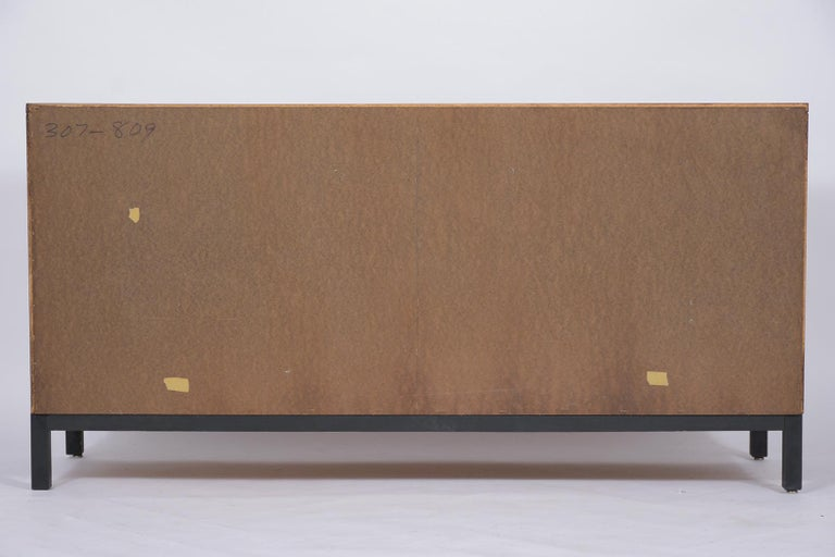 Milo Baughman Mid Century Modern Lacquered Walnut Credenza For Sale 3