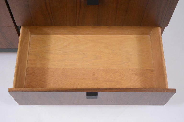 American Milo Baughman Mid Century Modern Lacquered Walnut Credenza For Sale