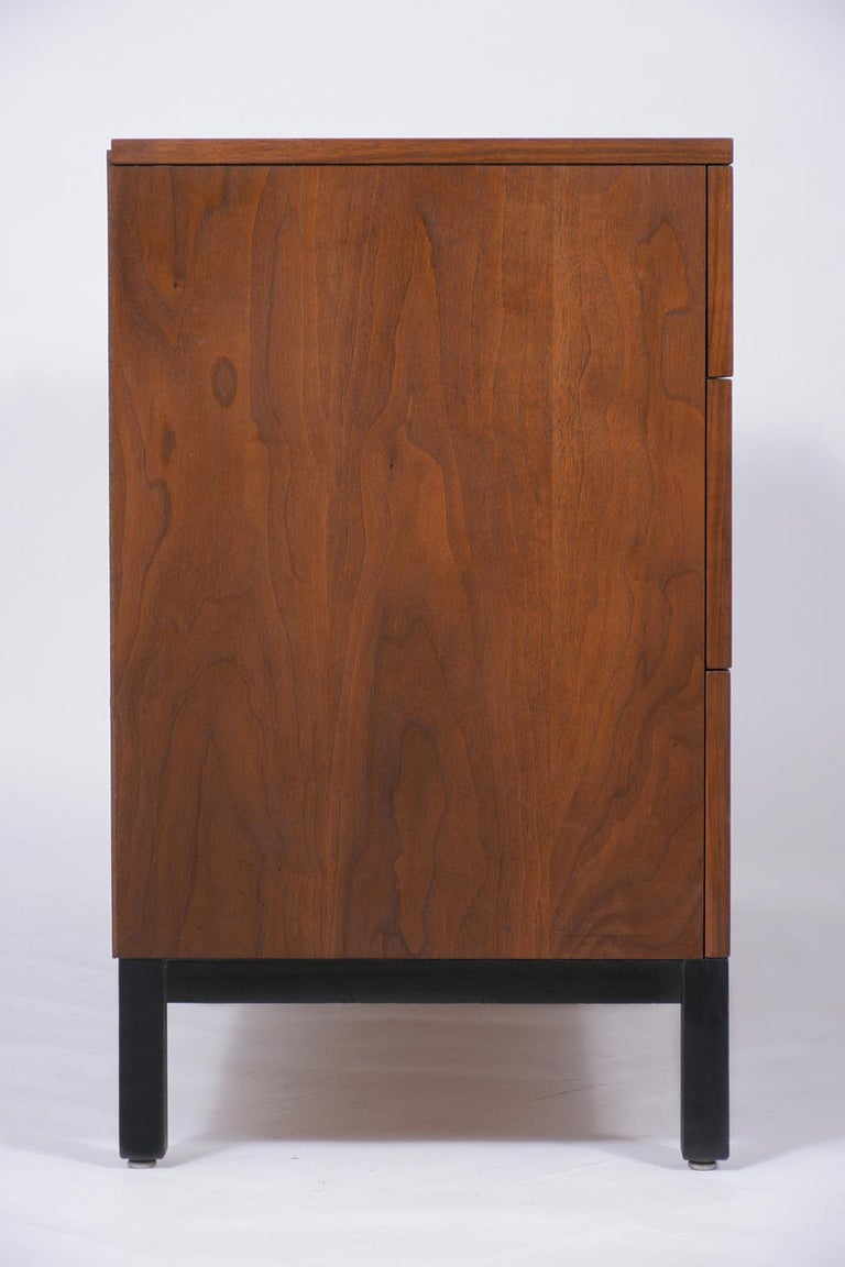 Milo Baughman Mid Century Modern Lacquered Walnut Credenza For Sale 1