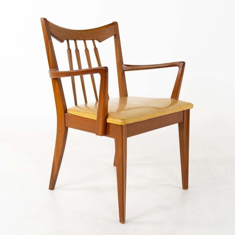 Mid Century Walnut Dining Chairs - Set of 6 For Sale 3