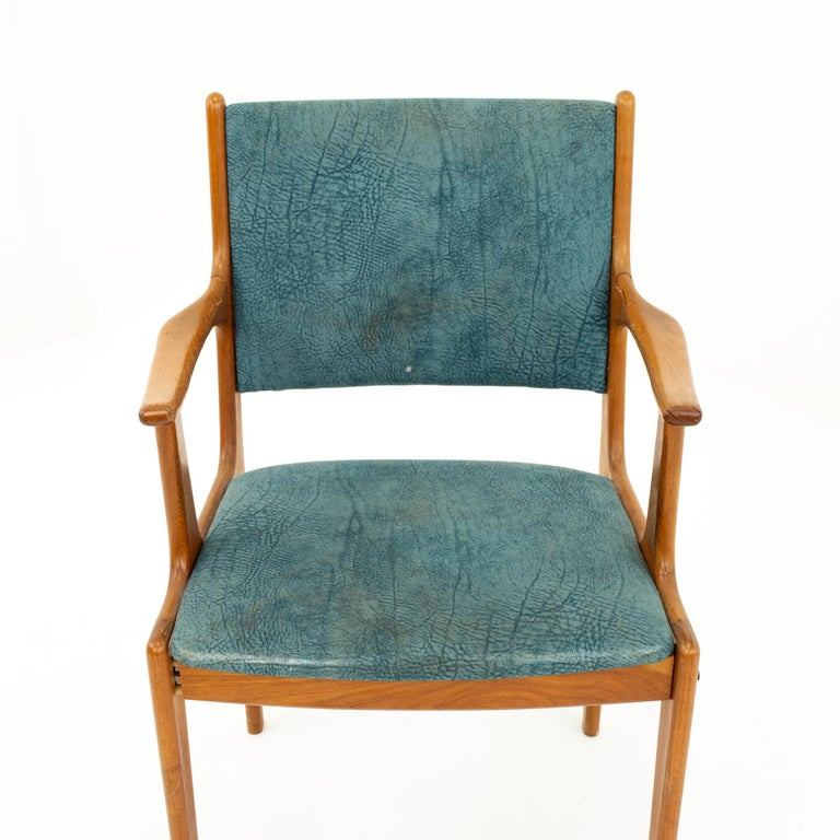 Mid Century Teak Dining Chairs, Set of 6 For Sale 3
