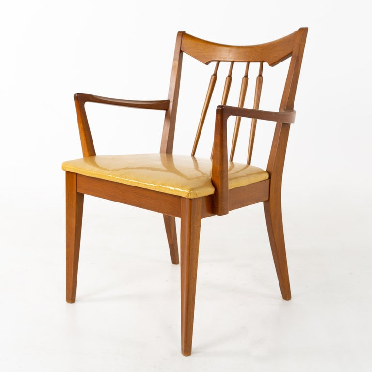 Mid Century Walnut Dining Chairs - Set of 6 For Sale 4