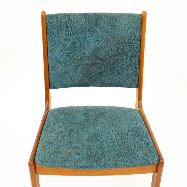 Mid Century Teak Dining Chairs, Set of 6 For Sale 4