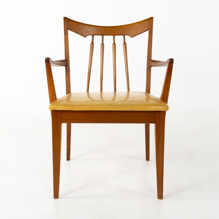 Mid Century Walnut Dining Chairs - Set of 6 For Sale 5