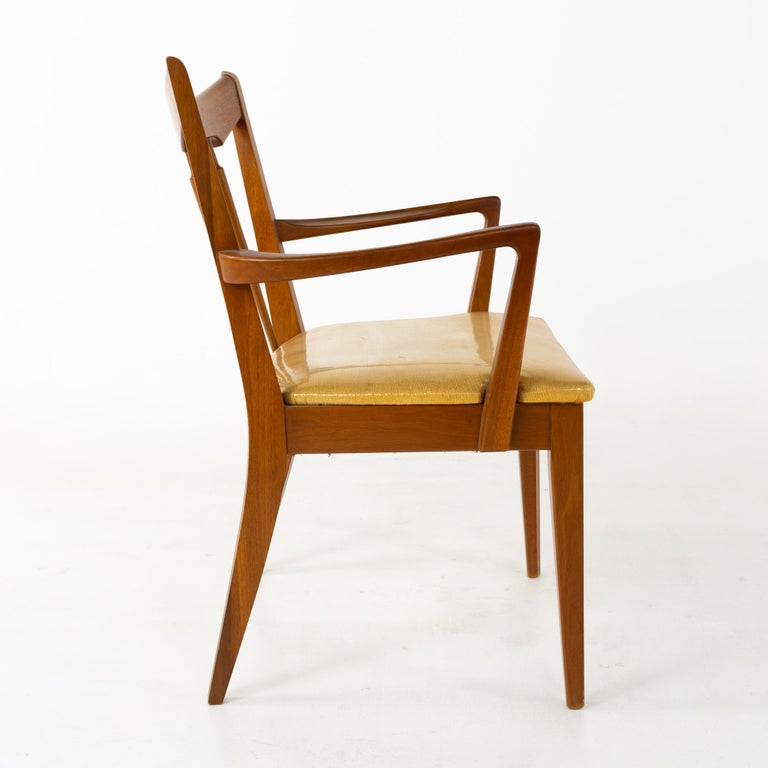 Mid Century Walnut Dining Chairs - Set of 6 For Sale 6