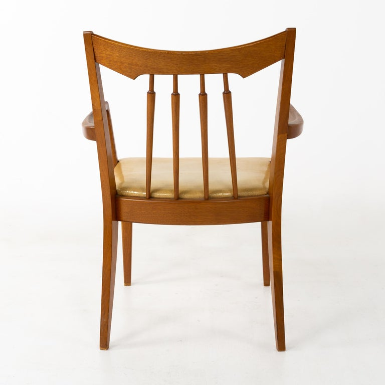 Mid Century Walnut Dining Chairs - Set of 6 For Sale 8