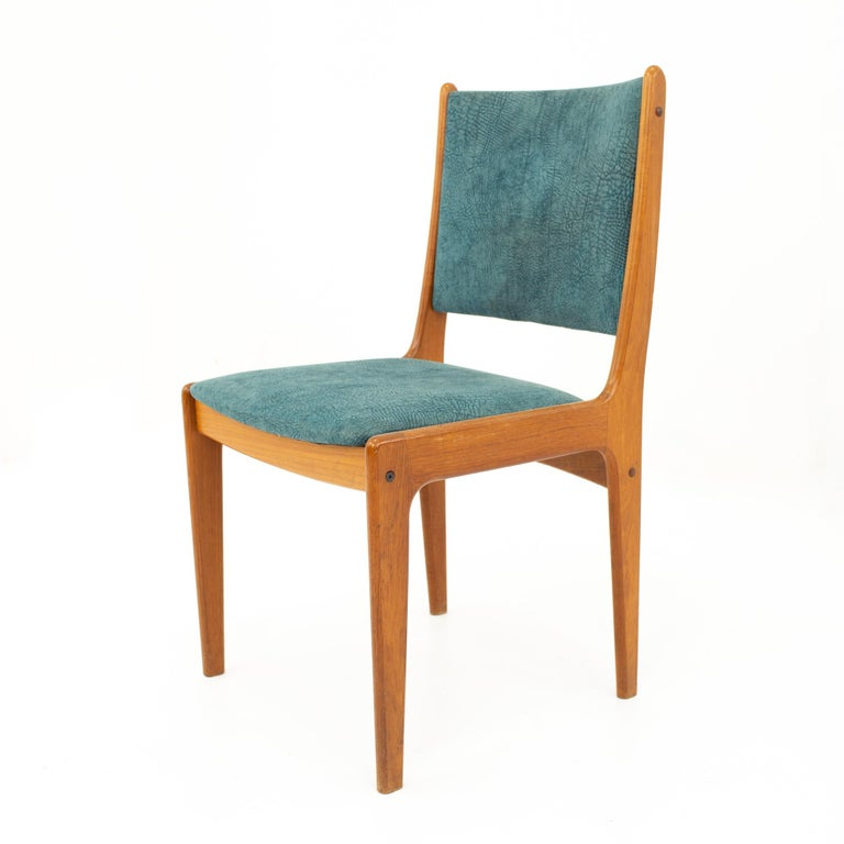 Mid Century Teak Dining Chairs, Set of 6 For Sale 8