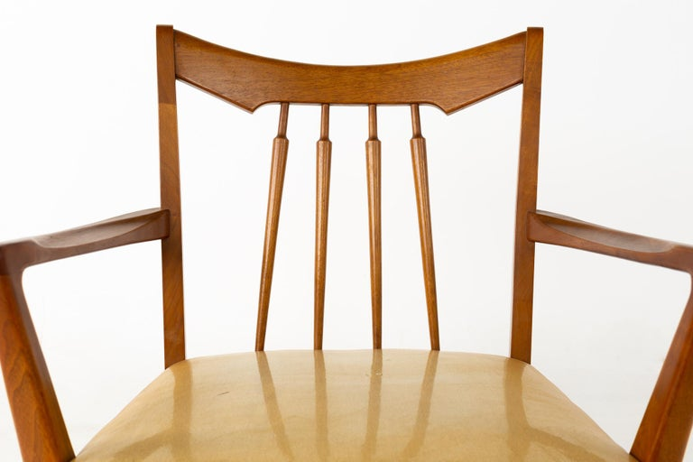 Mid Century Walnut Dining Chairs - Set of 6 For Sale 9