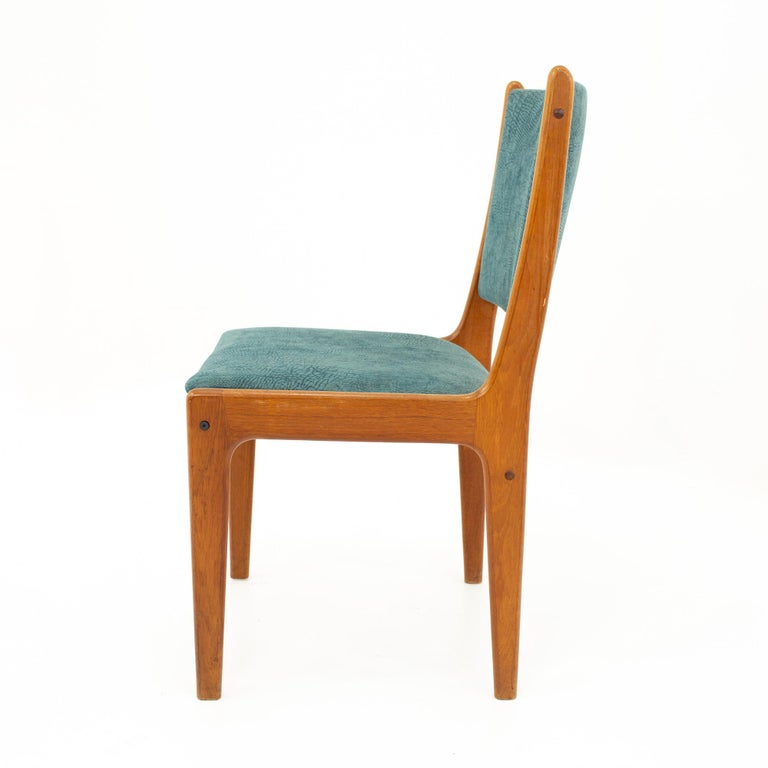 Mid Century Teak Dining Chairs, Set of 6 For Sale 9