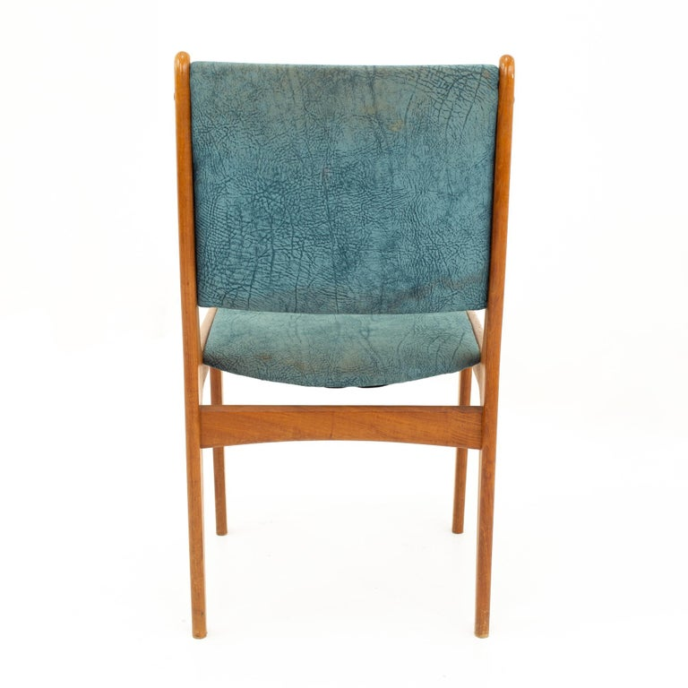 Mid Century Teak Dining Chairs, Set of 6 For Sale 10