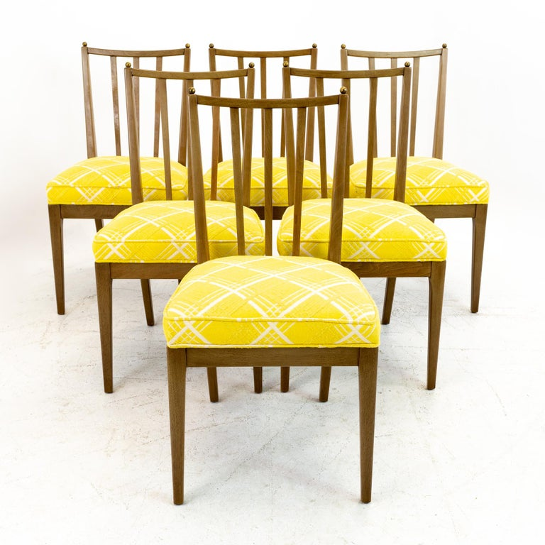 Mid-Century Modern Mid Century Walnut Dining Chairs, Set of 6 For Sale