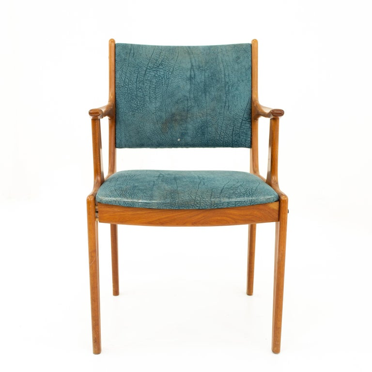 American Mid Century Teak Dining Chairs, Set of 6 For Sale
