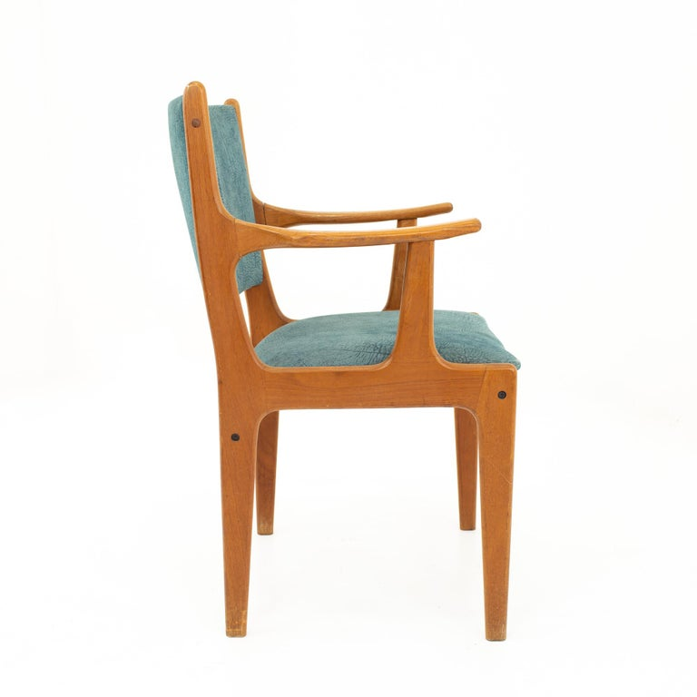 Late 20th Century Mid Century Teak Dining Chairs, Set of 6 For Sale