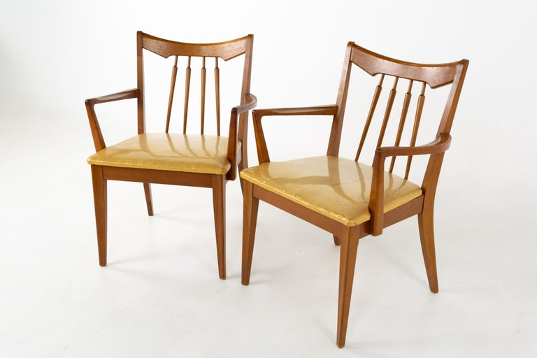 Mid Century Walnut Dining Chairs - Set of 6 For Sale 1
